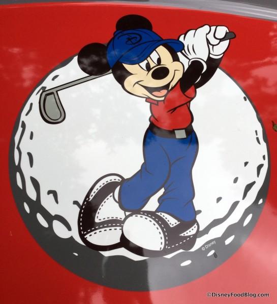 Close-up on Golfer Mickey