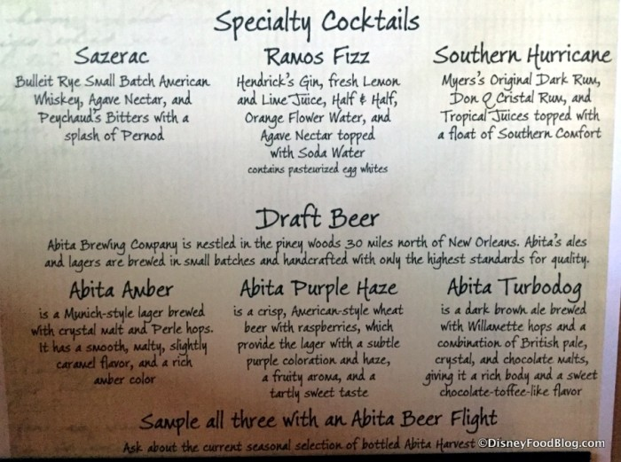 River Roost and Scat Cat's Club Specialty Drinks