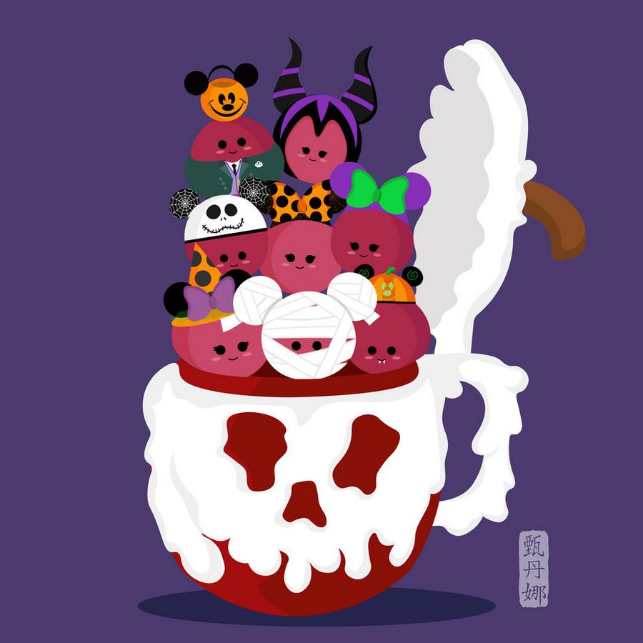 More Cute Disney Food Art! Halloween Edition | the disney ...