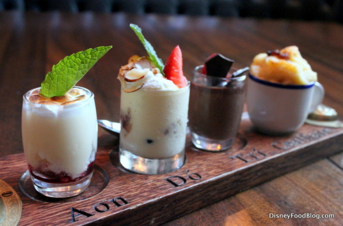 Sampling of Raglan Road's Desserts