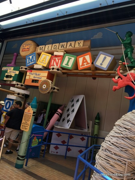 Toy Story Midway Mania current entrance