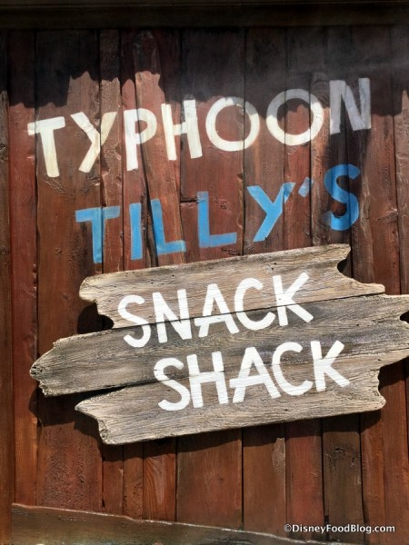 Typhoon Tilly's and Snack Shack sign