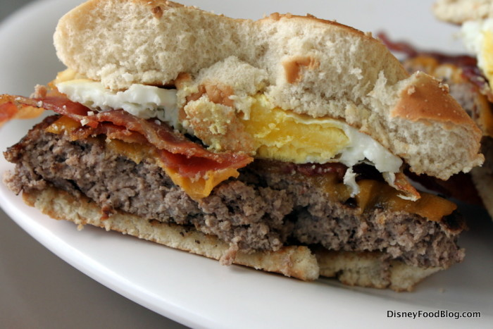 Steak and Egg Burger Cross-Section
