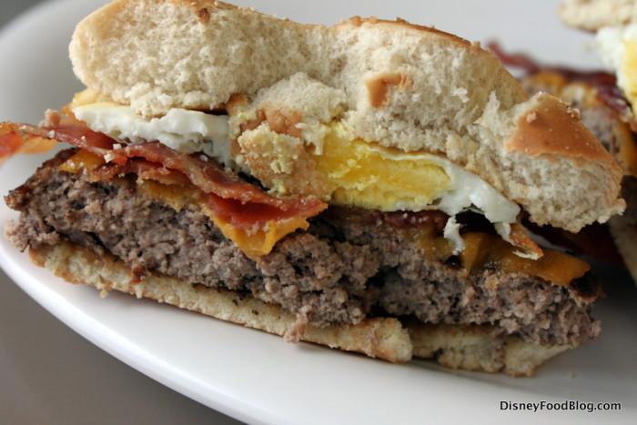 Steak and Egg Burger Cross-Section