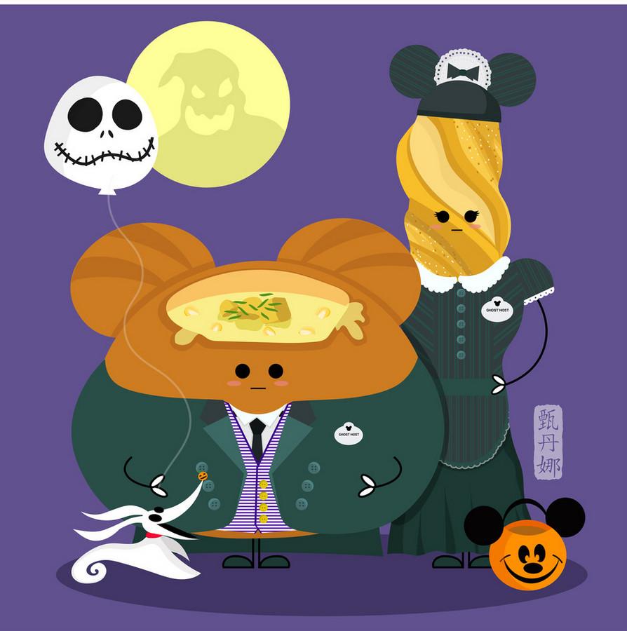 More Cute Disney Food Art! Halloween Edition   the disney ...