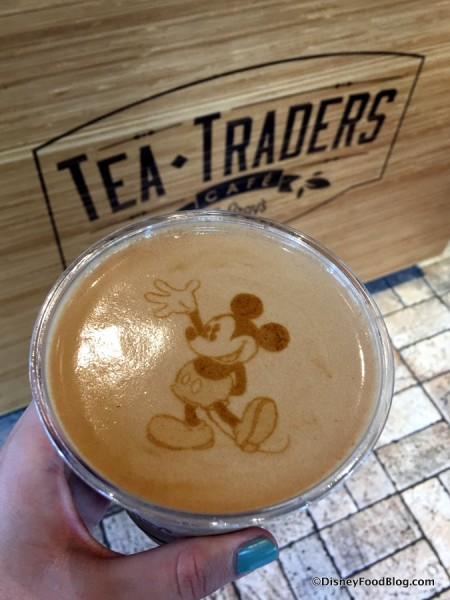 Mickey Mouse-topped Frozen Cappuccino