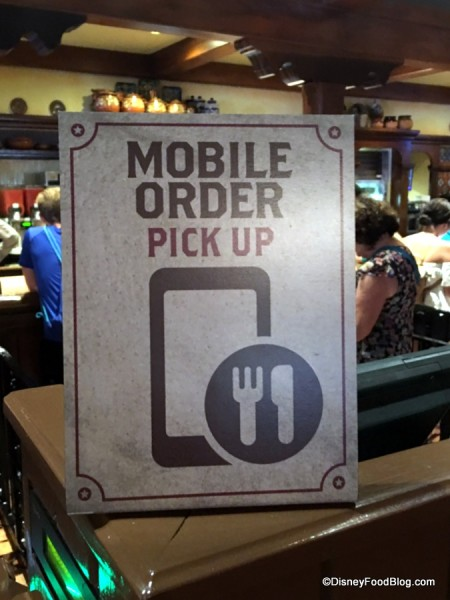 Look for the Mobile Order Pick-Up signs!
