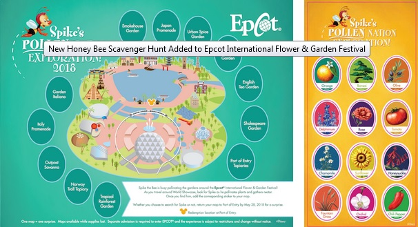 Spike's Pollen Nation Exploration map and stickers ©Disney
