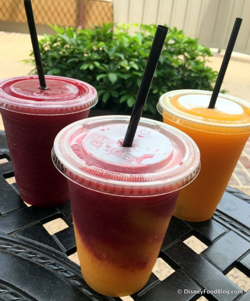 Wine Slushies -- Strawberry Shiraz, Swirl, and Mango Moscato