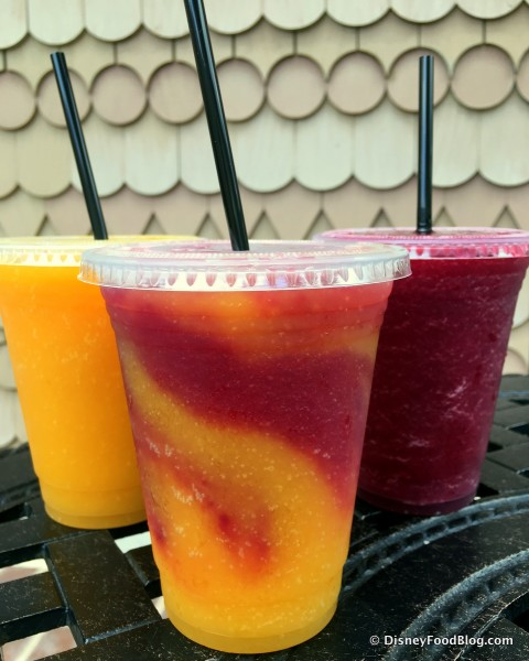 Wine Slushies -- Strawberry Shiraz, Swirl, and Mango Moscato