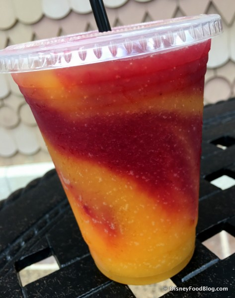 Swirled Wine Slushie -- Strawberry Shiraz and Mango Moscato