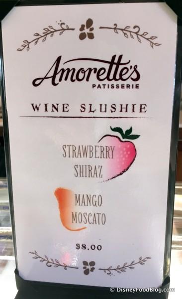 Wine Slushie Options -- Click to Enlarge