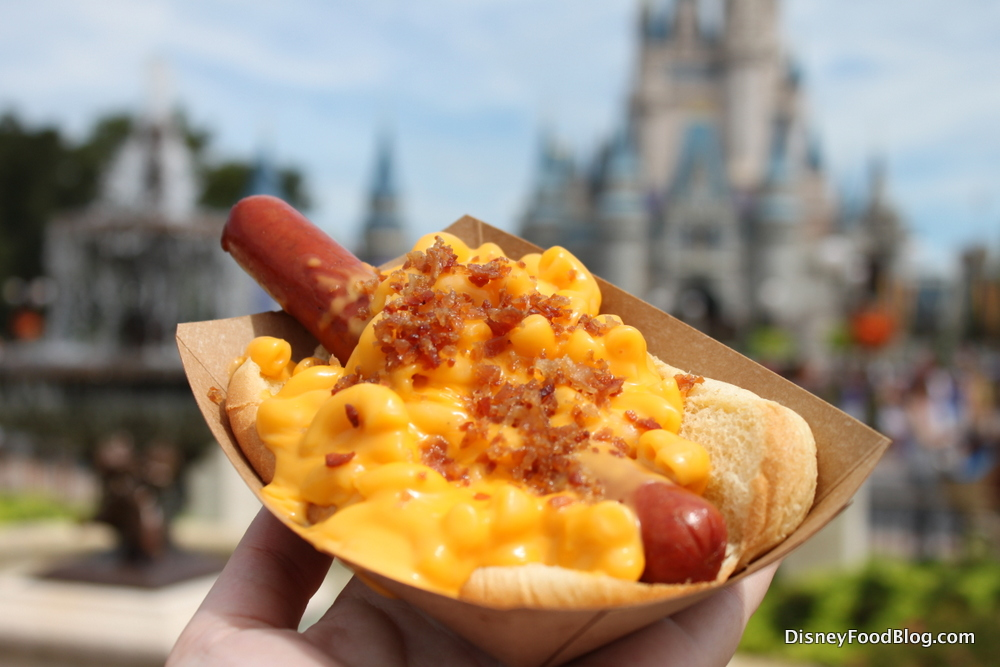Hot Dog Topped With Mac And Cheese