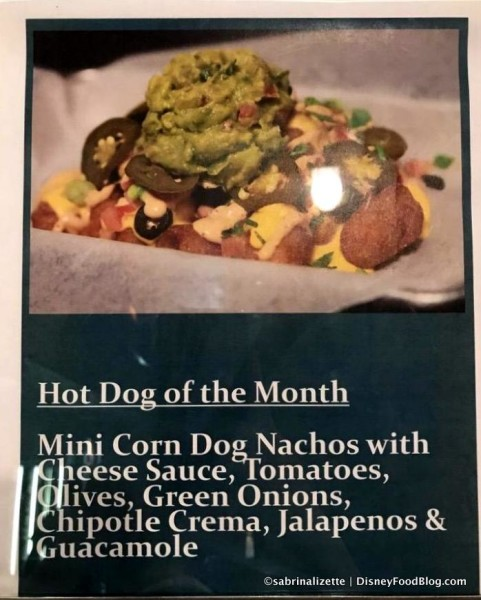 Corn Dog Nachos sign
