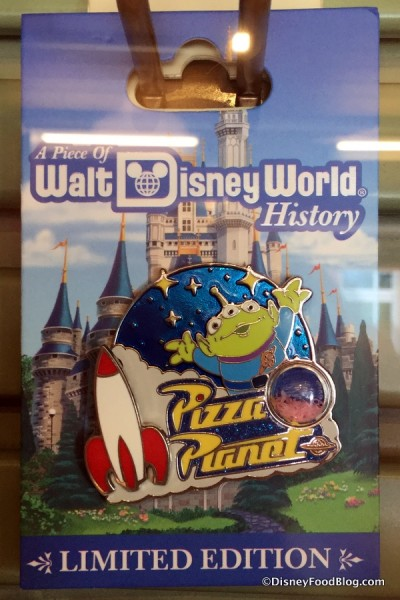 A Piece of Walt Disney World History Toy Story Pizza Planet Pin