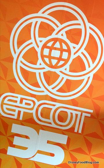 Epcot 35 Signage