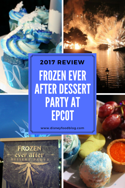 Frozen Ever After Dessert Party at Epcot Review