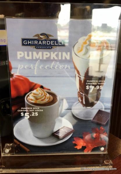 Ghirardelli Caramel Pumpkin Spice Cocoa and Shake