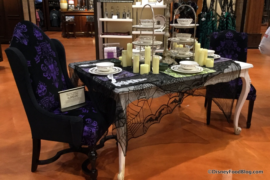 The latest the disney food blog for Haunted dining room ideas