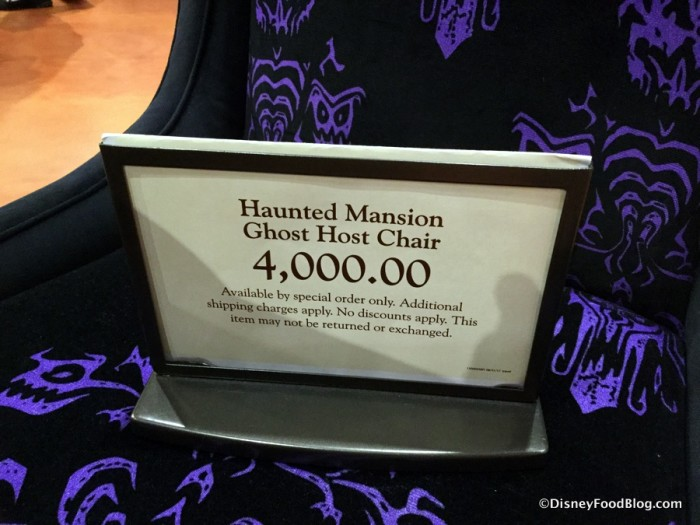 Haunted Mansion Ghost Host Chair Sign