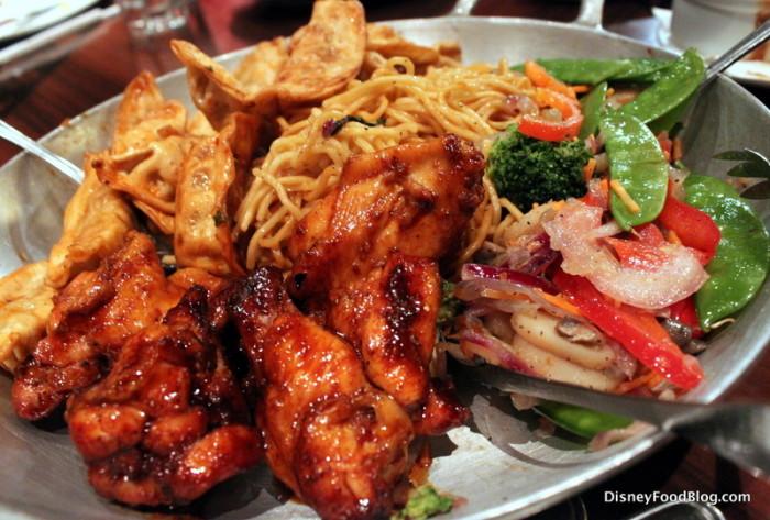 Sides -- Wontons, Lo Mein, Stir Fried Vegetables, Chicken Wings