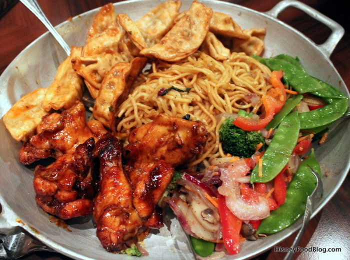 Sides -- Wontons, Lo Mein, Stir Fried Vegetables, Chicken Wings