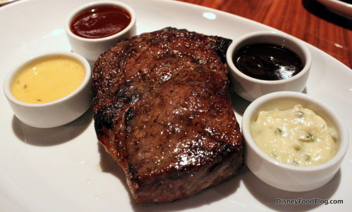 Delmonico Steak with Sauces