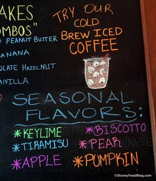 Vivoli Il Gelato Seasonal Flavors