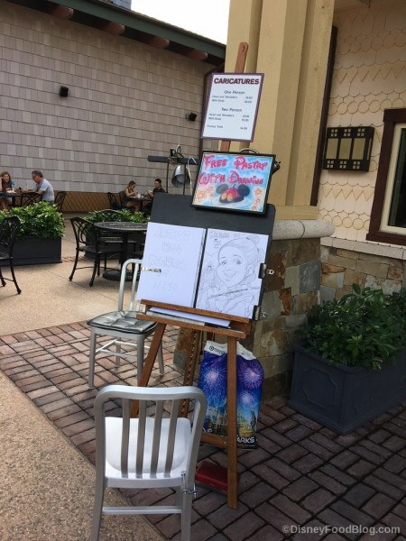 Caricature Stand at Amorette's Patisserie