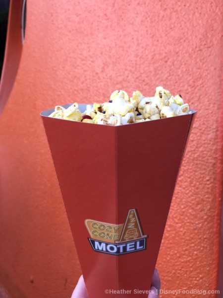 Cone of popcorn with candy!