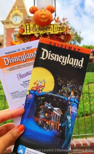Halloween-ified Disneyland Maps and Times Guide!