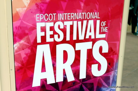 festival of the arts sign