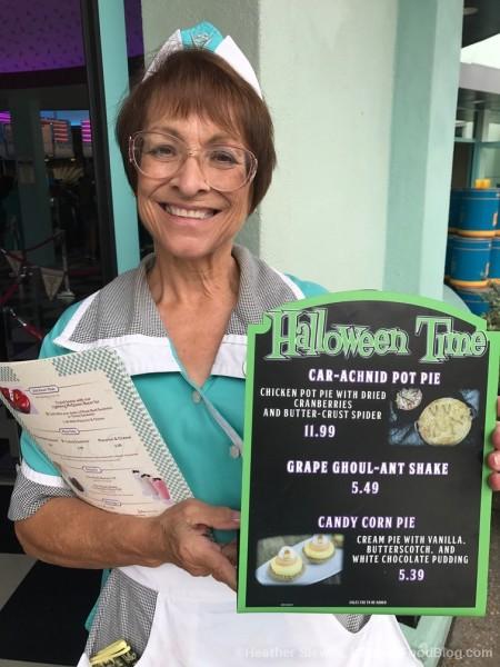 Halloween Menu at Flo's V-8 Cafe