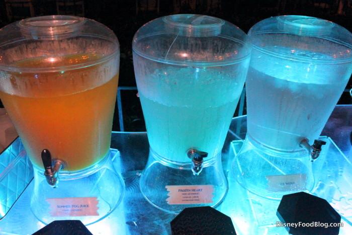 Cold drinks -- including POG juice!