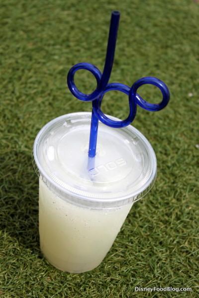 Frozen Lemonade with Mickey Straw!