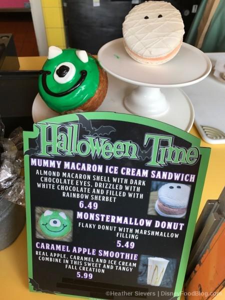 Monstermallow Donut and Mummy Macaron Sandwich