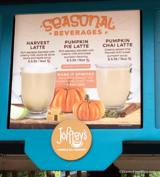 Joffrey's Fall Beverages