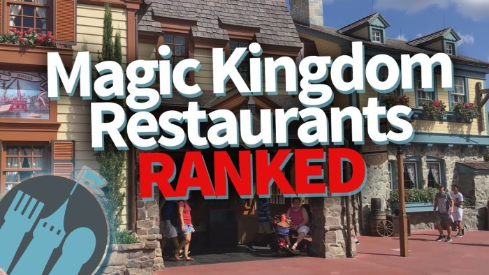 magic kingdom restaurants ranked