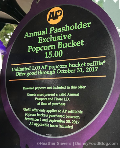 Annual Passholder Exclusive Popcorn Bucket