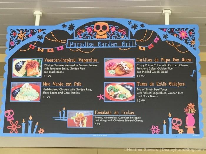 Dia de los Muertos Menu at Paradise Garden Grill