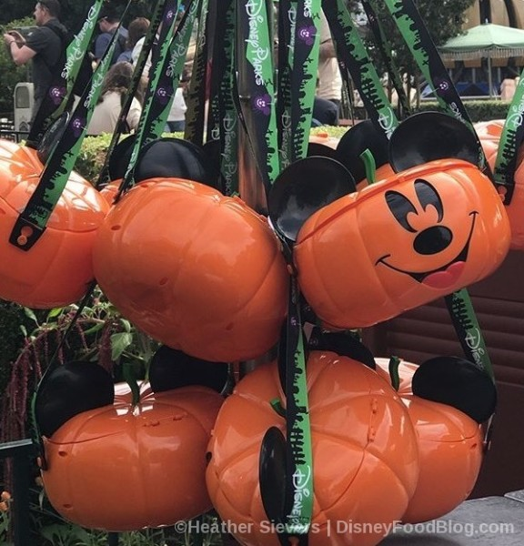 Pumpkin Mickey Popcorn Buckets