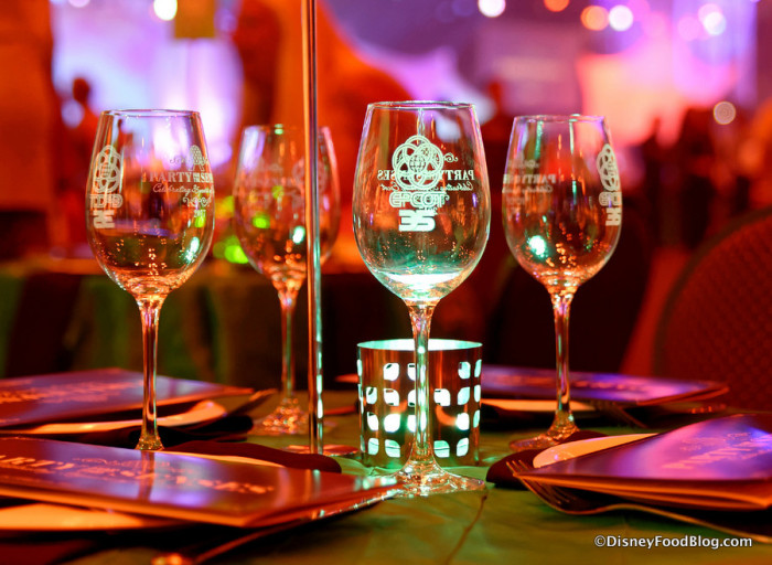 Party for the Senses Epcot 35 Wine Glasses