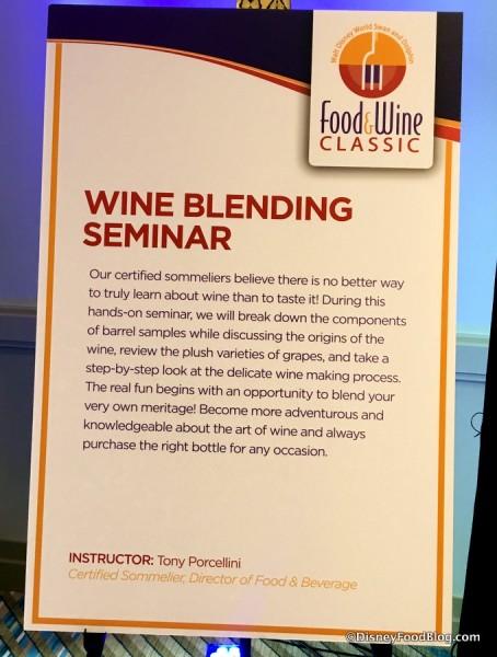 Wine Blending Seminar Preview