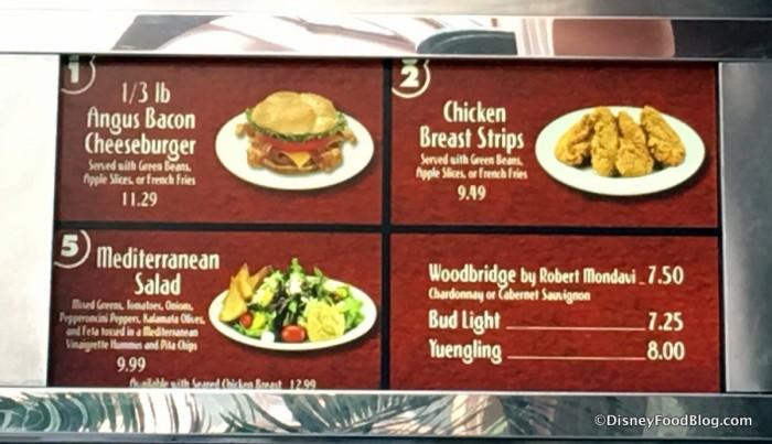 ABC  Commissary Menu