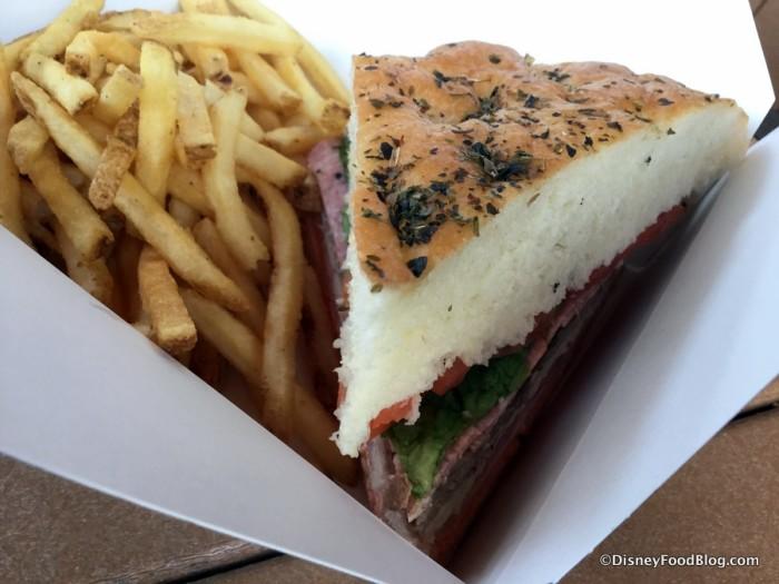 Big Kahuna Sandwich with French Fries