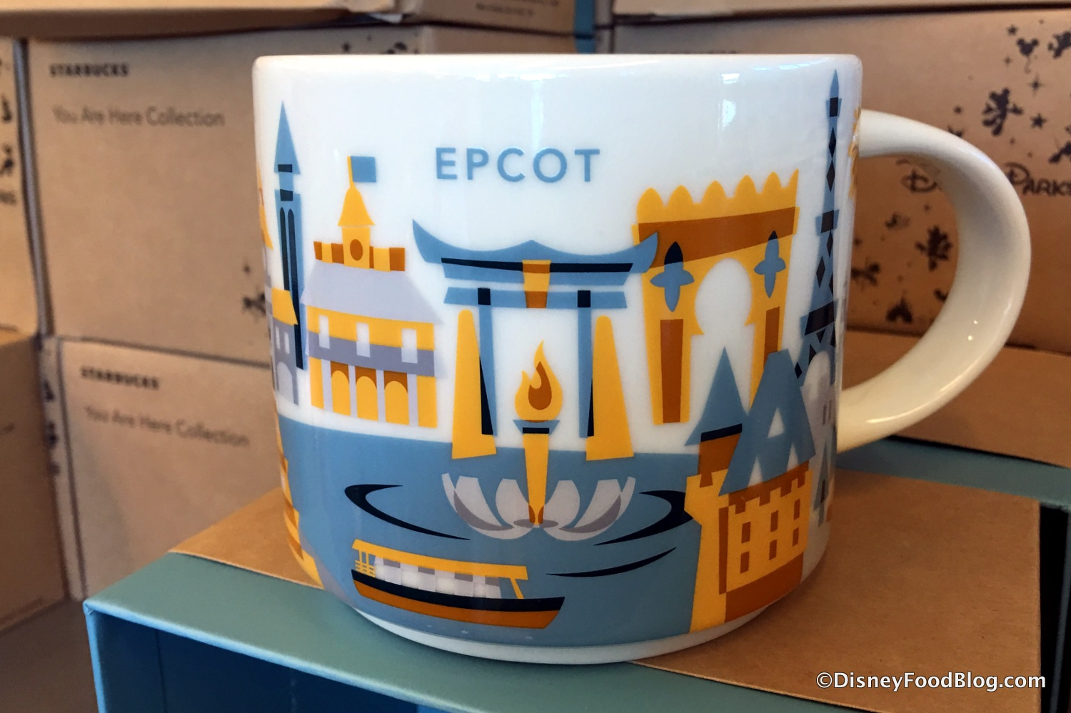 Spotted New Epcot Starbucks You Are Here Mugs And More At