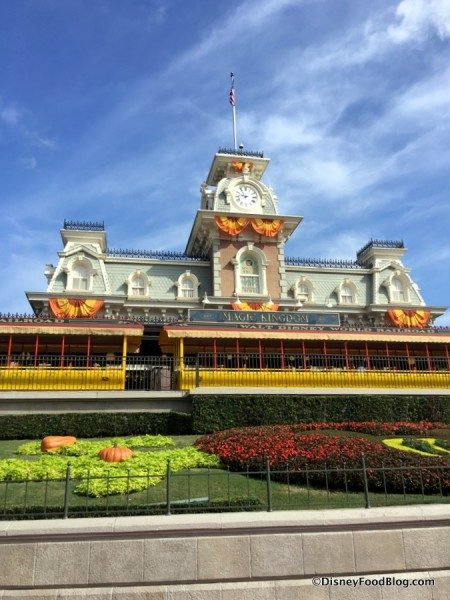 Magic Kingdom Train Station in the Fall