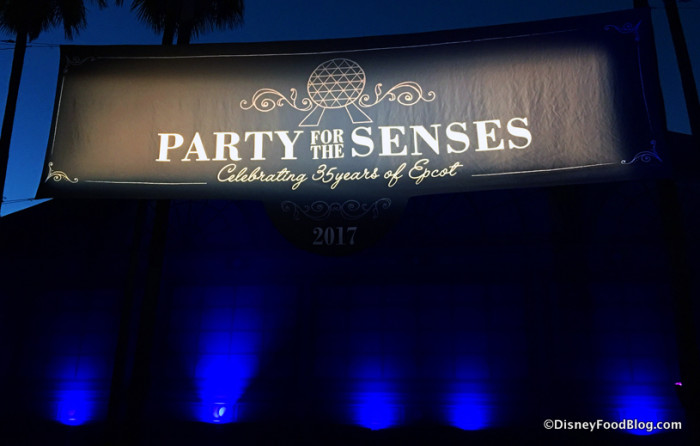 Party for the Senses sign