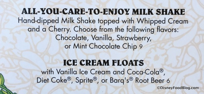 All-You-Care-to-Enjoy Milkshakes on the Menu