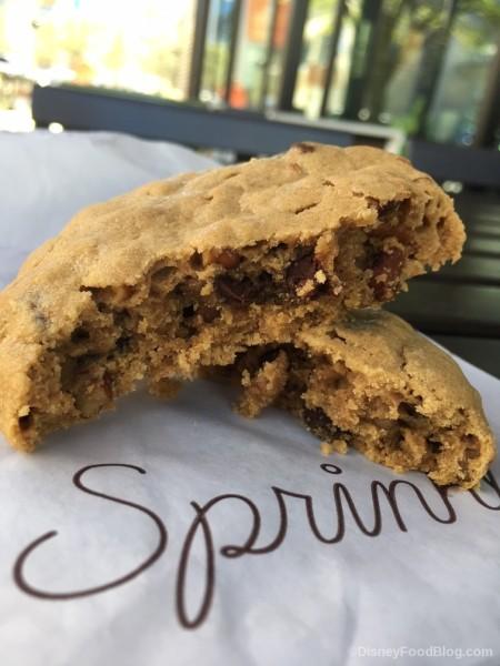Peanut Butter Pretzel Chip Cookie Interior